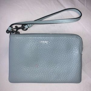 Coach Wristlet in Light Blue